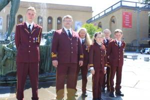I uniform ved konserthuset
