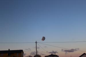 Ballongen svever til værs